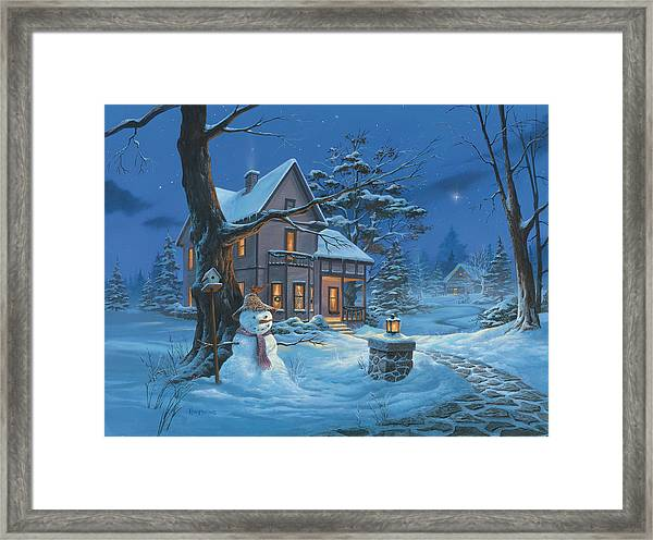 Once Upon A Winter's Night Framed Print