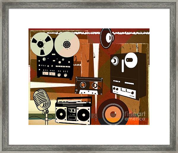 Once Upon Audio Framed Print by Peter Awax