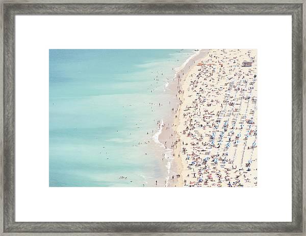 Ondarreta Beach, San Sebastian, Spain Framed Print