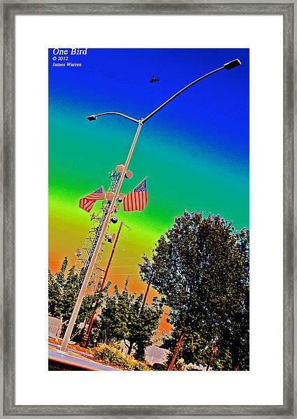 One Bird Framed Print