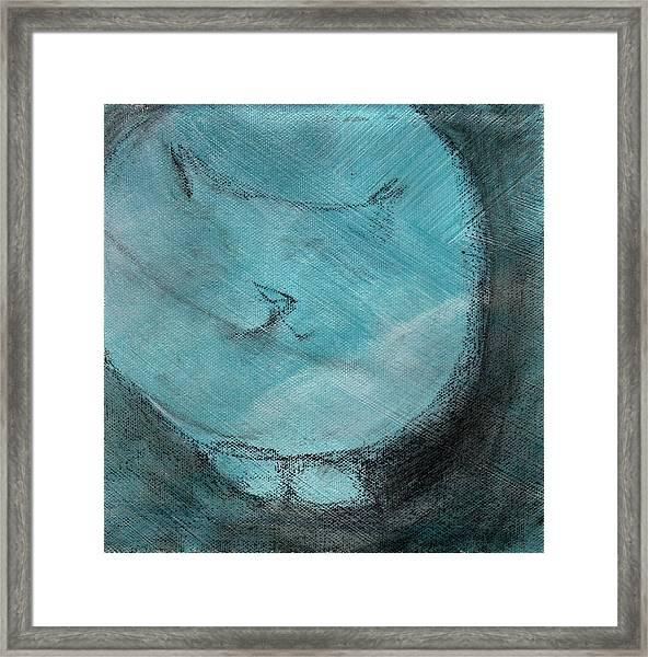One Blue You Framed Print