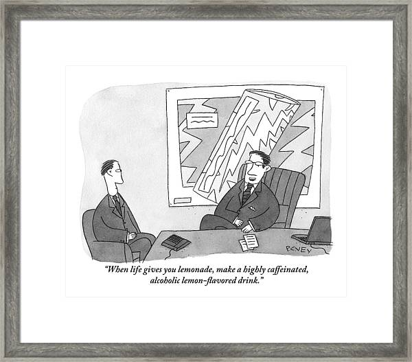 One Businessman To Another Framed Print