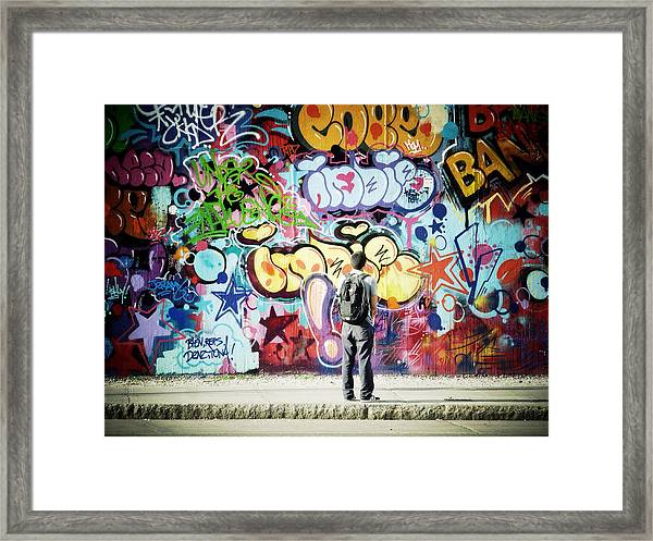 One Can't Paint New York As It Is But Rather As It Is Felt Framed Print