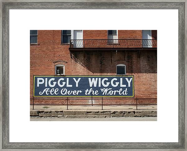 One Famous Pig Framed Print