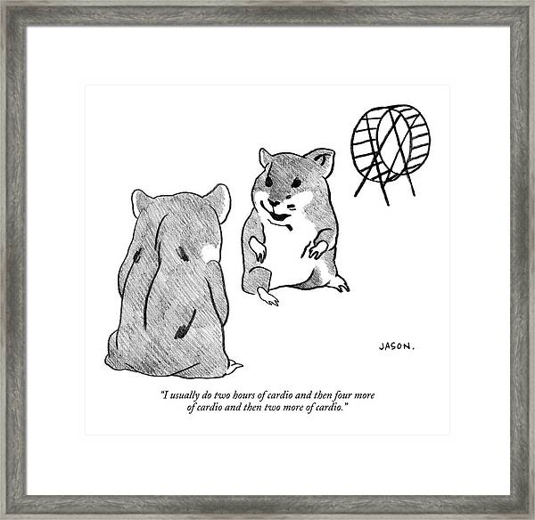 One Gerbil To Another Framed Print