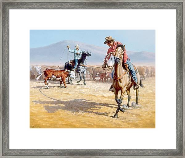 One Heel Framed Print