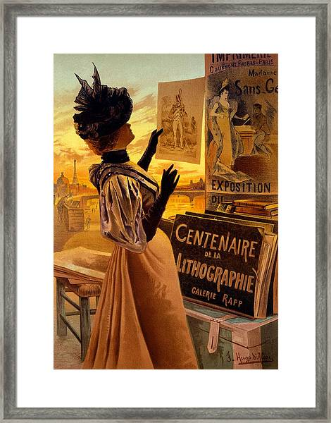 One Hundred Years Of Lithography Framed Print