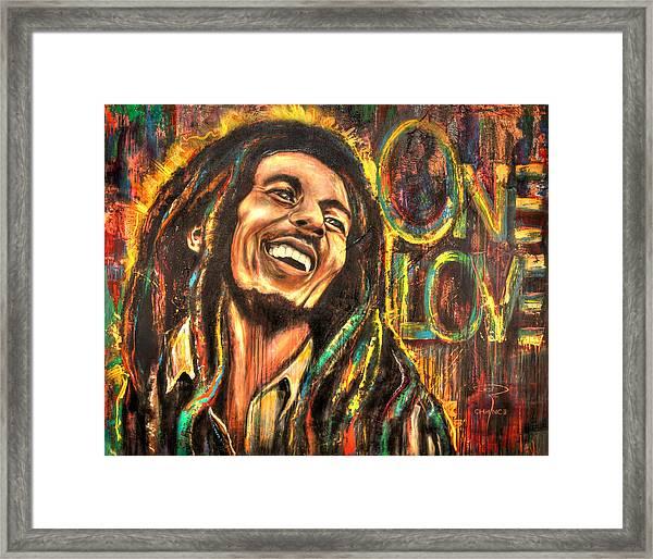 Bob Marley - One Love Framed Print
