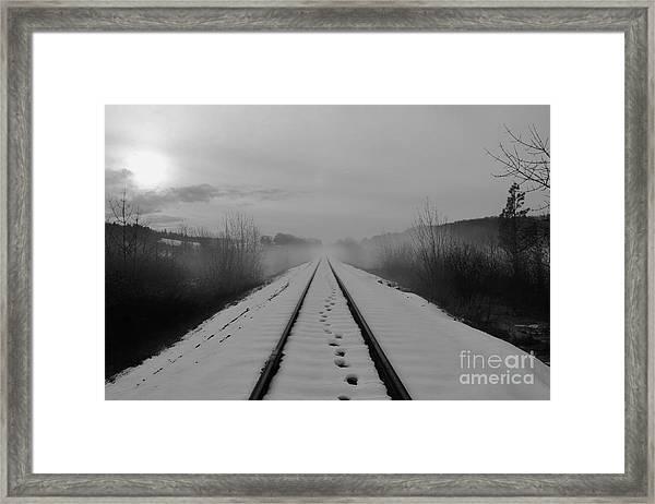 One Man's Journey Framed Print