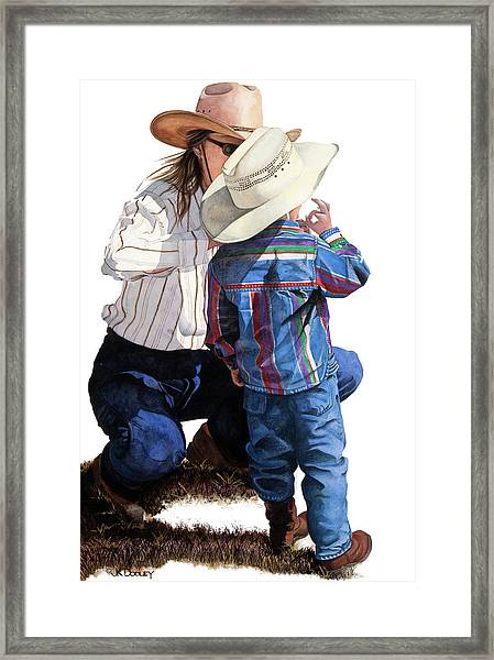 One More Thing Hold On  Framed Print