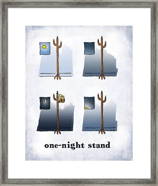 One Night Stand Framed Print