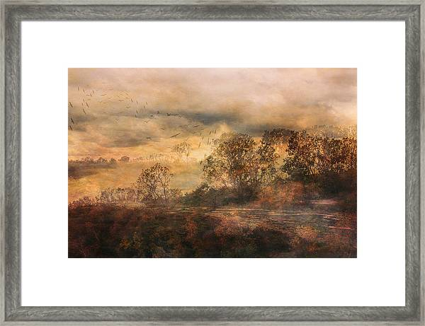 One October Day Framed Print
