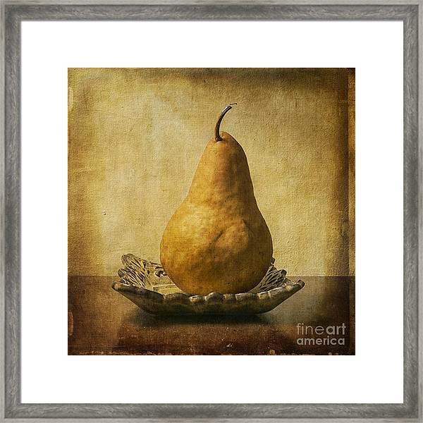 One Pear Meditation Framed Print