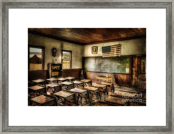 Framed Print featuring the photograph One Room School by Lois Bryan