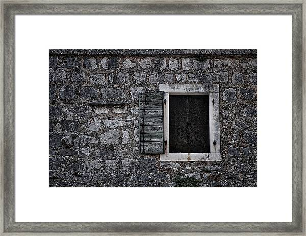 One Shutter Framed Print