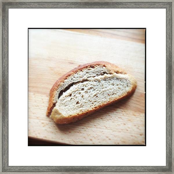One Slice Of Bread Framed Print