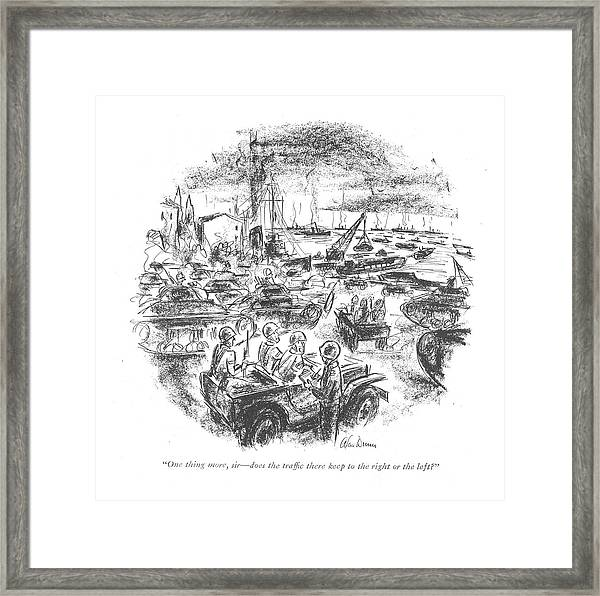 One Thing More Framed Print