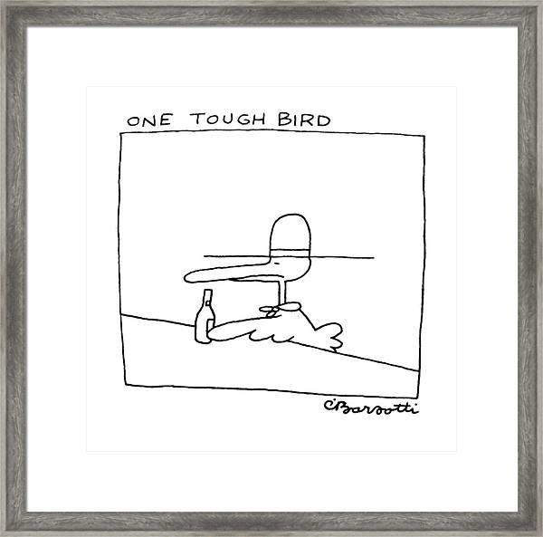 One Tough Bird Framed Print