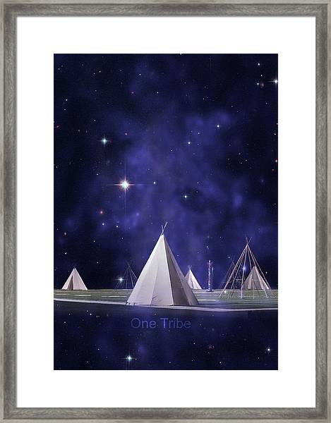 One Tribe Framed Print