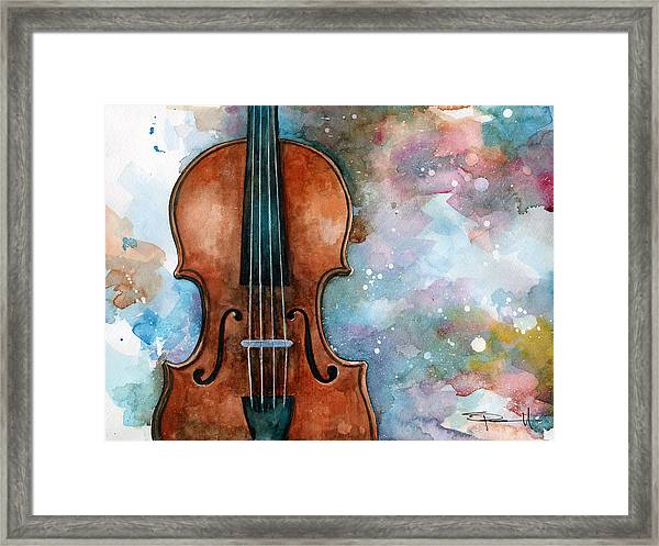 One Voice In The Cosmic Fugue Framed Print