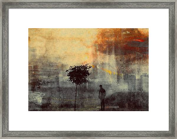One Way (shadows) Framed Print