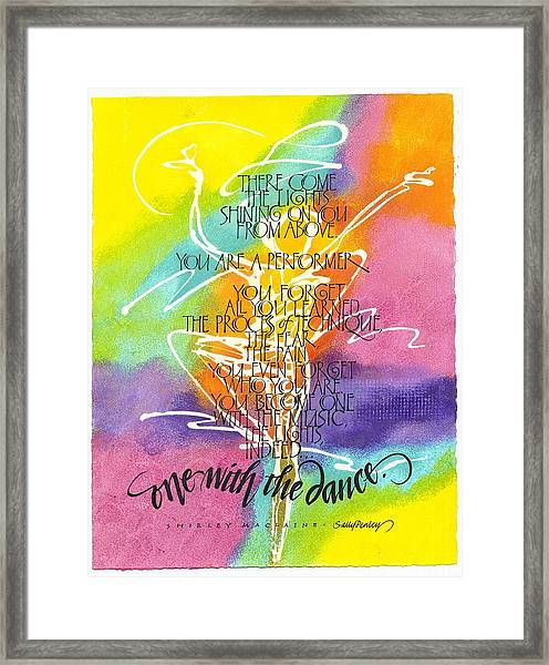One With The Dance Framed Print