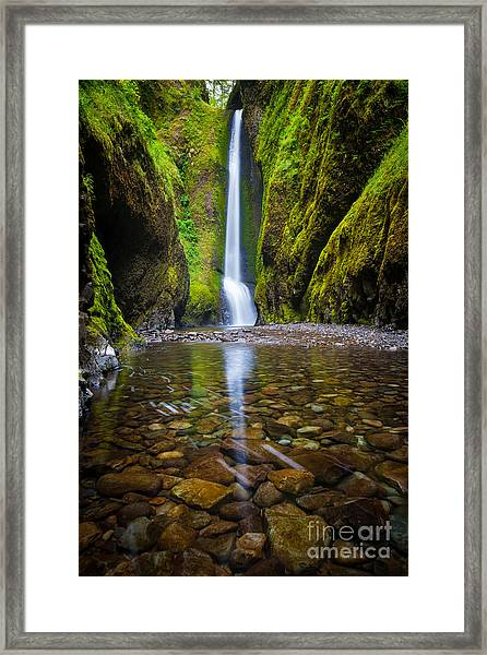 Oneonta Falls Framed Print