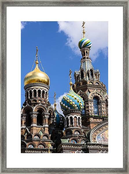 Onion Domes Church Of Spilled Blood Framed Print