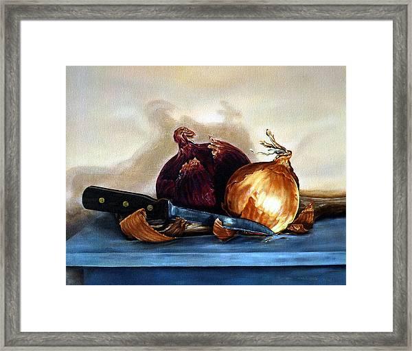 Onions Framed Print