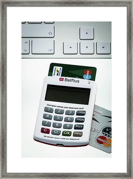 Online Banking Framed Print