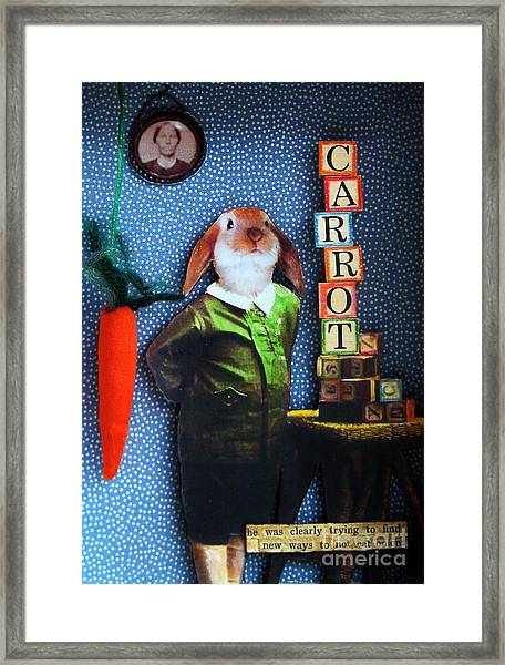 Only Carrots   Framed Print by Linda Apple