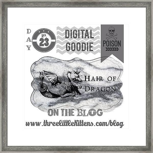#ontheblog #today #day23 #free #digital Framed Print