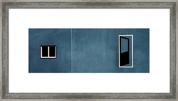 Open Door... No Access Framed Print