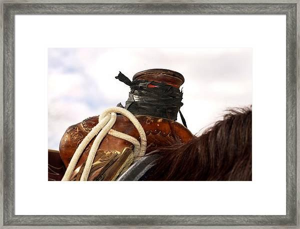 Open Range Saddle Framed Print