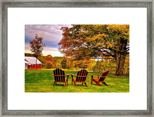 Open Seating Framed Print