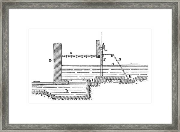 Open Turbine Water Flow Framed Print by Science Photo Library