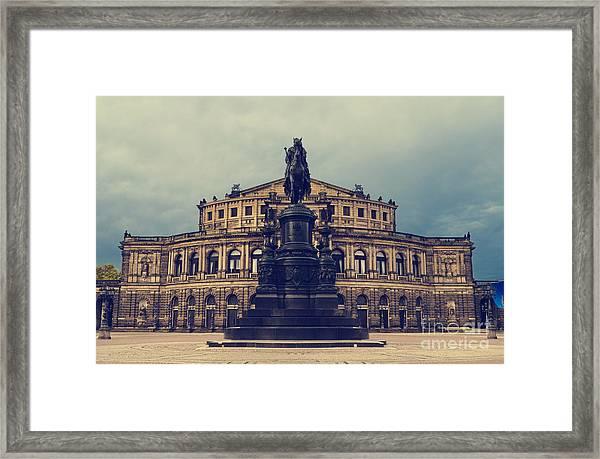 Opera House In Dresden Framed Print