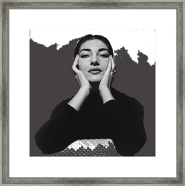 Opera Singer Maria Callas Cecil Beaton Photo No Date-2010 Framed Print
