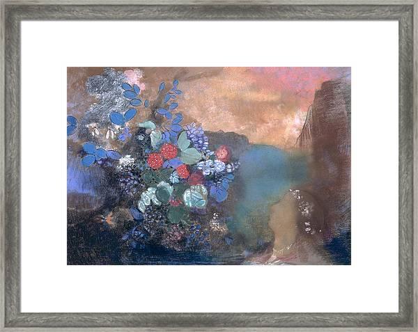 Ophelia Among The Flowers Framed Print