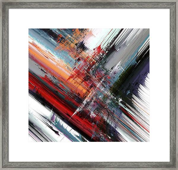 Opposing Angles Framed Print