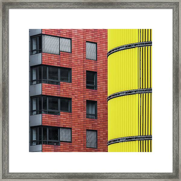 Opposite Attraction I Framed Print by Benjamin Brosdau