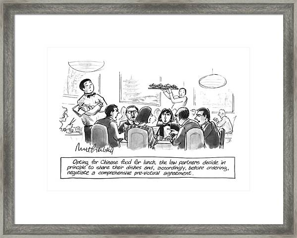 Opting For Chinese Food For Lunch Framed Print