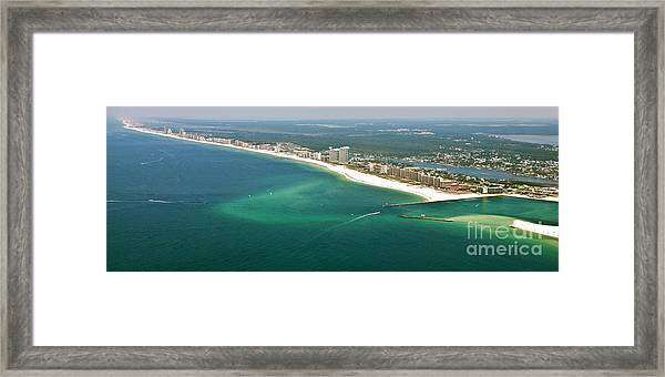 Looking N W Across Perdio Pass To Gulf Shores Framed Print