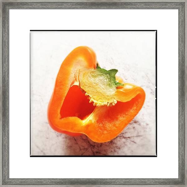 Orange Bell Pepper - Square Format Framed Print