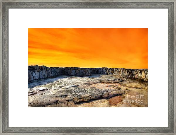 Orange Blaze Framed Print