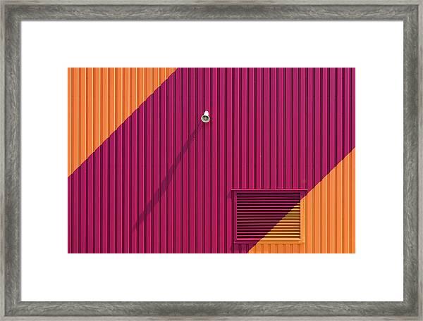 Orange Corners Framed Print by Greetje Van Son