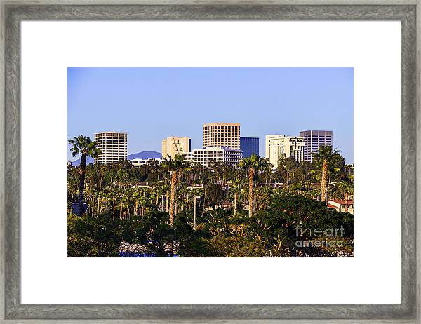 Orange County California Office Buildings Picture Framed Print by Paul Velgos