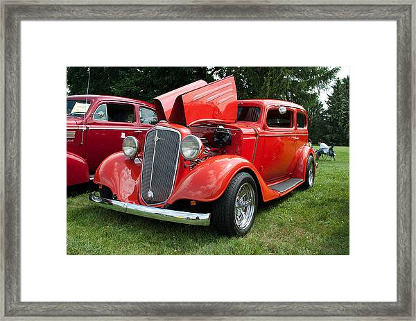 Orange Crate Framed Print
