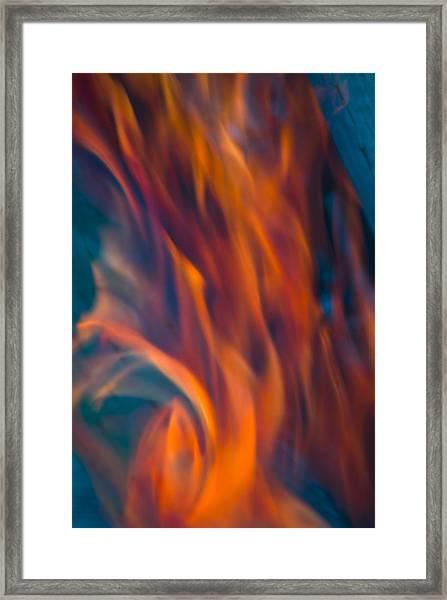 Orange Fire Framed Print