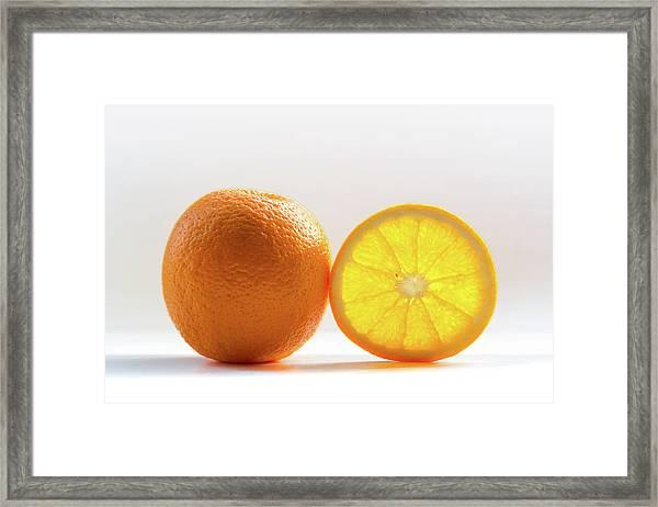 Orange Fruit Composition Framed Print